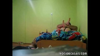 Amateur wife fucks husband with strapon during honeymoon